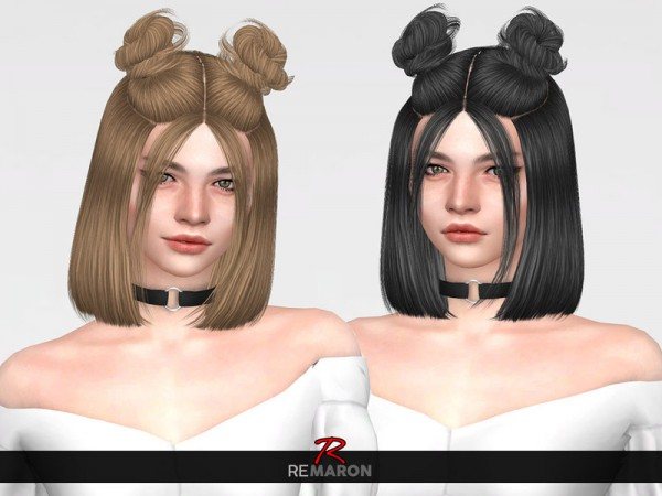 The Sims Resource: Naija Hair Retextured by remaron for Sims 4