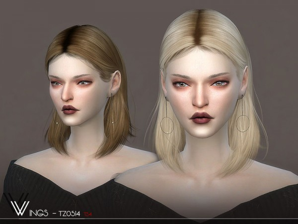 The Sims Resource: WINGS TZ0514 Hair for Sims 4