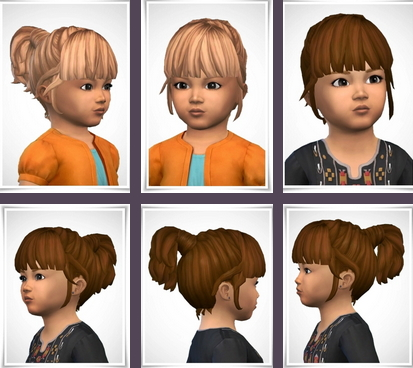 Birksches sims blog: Philippa ToddlerHair for Sims 4