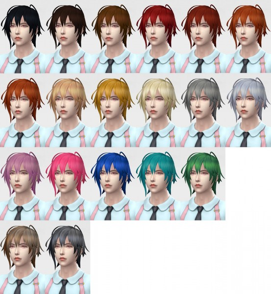 Mod The Sims: Shin Hair by Kohagura for Sims 4