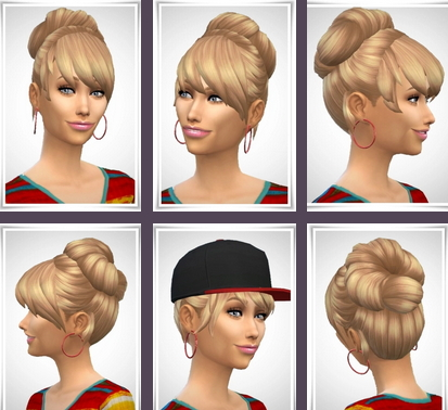 Birksches sims blog: Laurie Hair for Sims 4