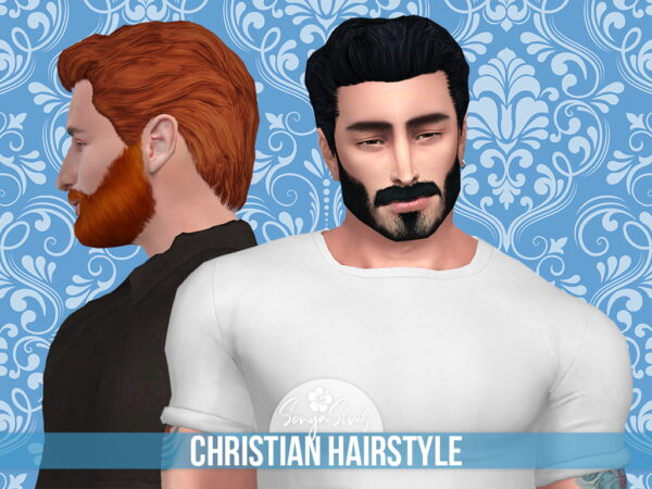 Mod The Sims: Christian Hair by SonyaSimsCC for Sims 4