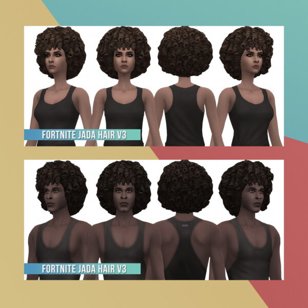 Busted Pixels: Fortnite Conversion Hairs for Sims 4