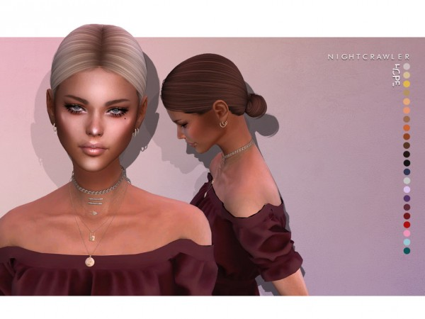 The Sims Resource: Hope Hair by Nightcrawler for Sims 4