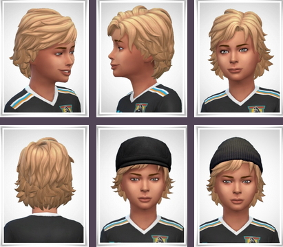 Birksches sims blog: Robby Hair for Sims 4