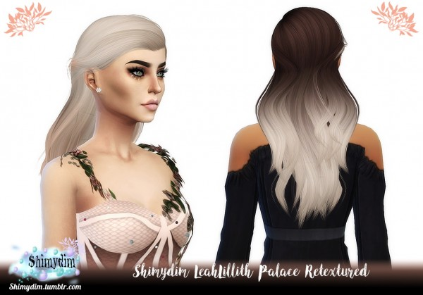Shimydim: LeahLillith`s Palace Hair Retextured for Sims 4
