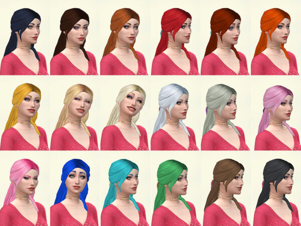 The Sims Resource: Cilla hair for Sims 4