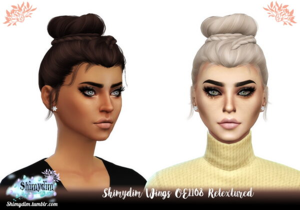 Shimydim: Wings OE1108 Hair Retextured for Sims 4