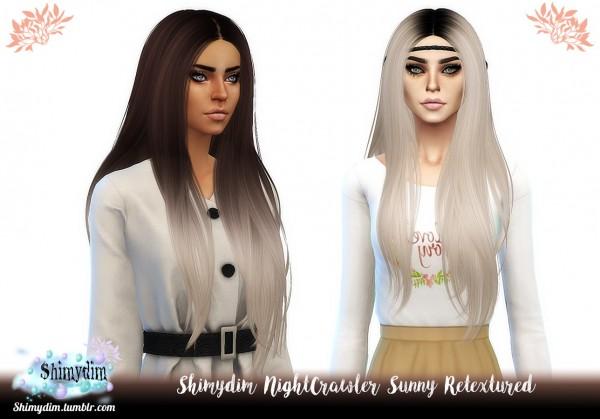 Shimydim: NightCrawler`s Sunny hair retextured for Sims 4