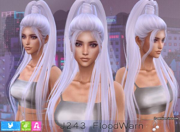 NewSea: J243 Flood Warn Hair for Sims 4