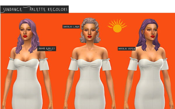 Simminginchi: Sundance Hairs Recolors for Sims 4