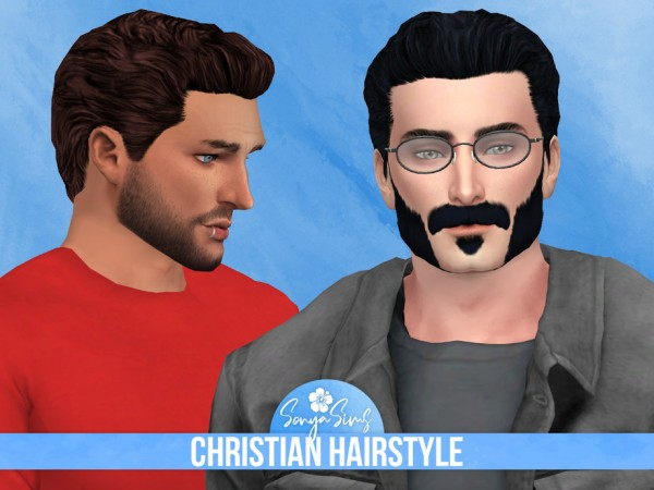 The Sims Resource: Christian Hair retextured by SonyaSimsCC for Sims 4