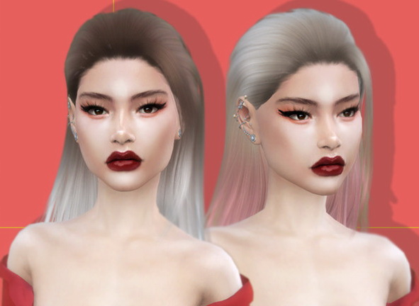 The Sims Resource: Kendall Hair by LeahLillith for Sims 4