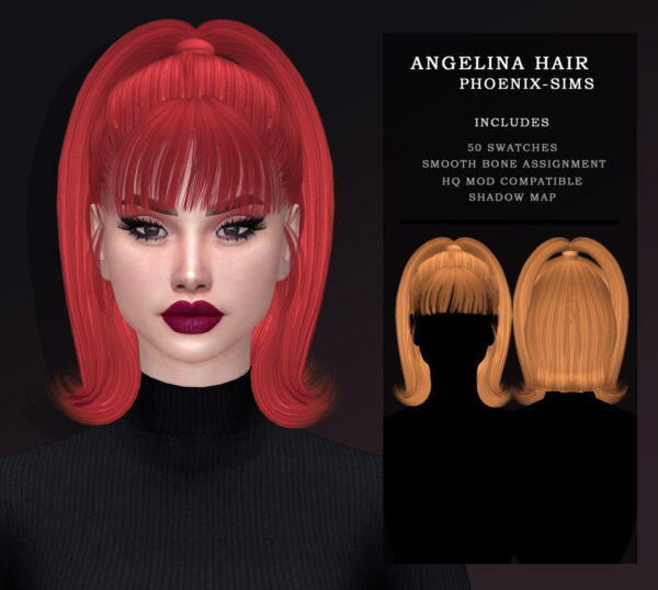 Phoenix Sims: Sabrina and Angelina Hair for Sims 4