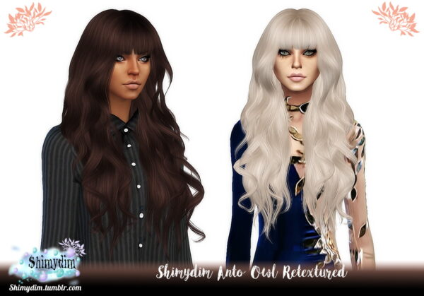Shimydim: Anto`s Owl Hair Retextured for Sims 4