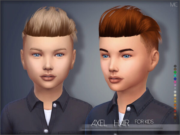 The Sims Resource: Axel Hair Kids by  Mathcope for Sims 4