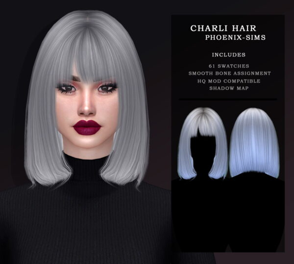 Phoenix Sims: Karli Hair and Charlie hair for Sims 4