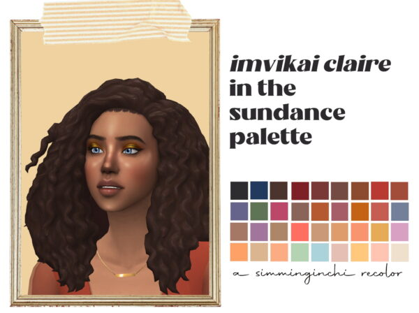 Simminginchi: Claire hair recolored for Sims 4