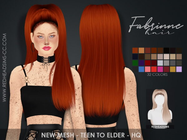 Coupure Electrique: Fabrinne Hair for Sims 4