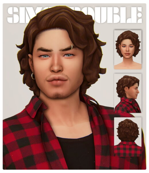 Simstrouble: Jazz Riff Hair for Sims 4