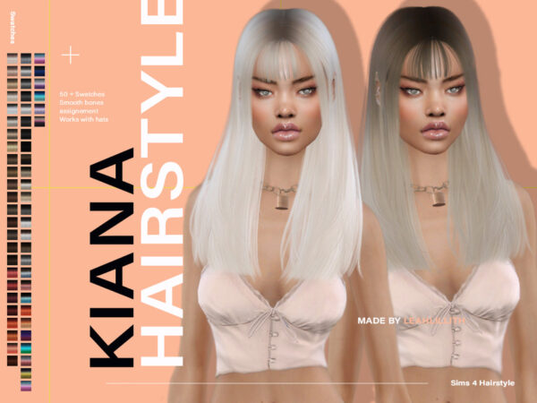 The Sims Resource: Kiana Hair by LeahLillith for Sims 4