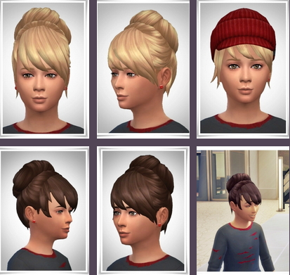 Birksches sims blog: Laurie Kids Hair for Sims 4