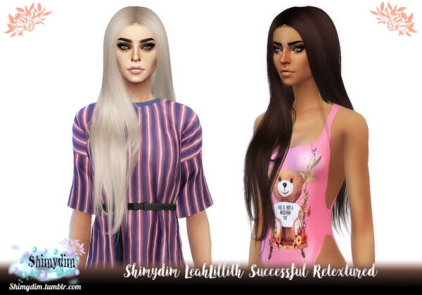 Shimydim: LeahLillith`s Successful Hair Retextured for Sims 4