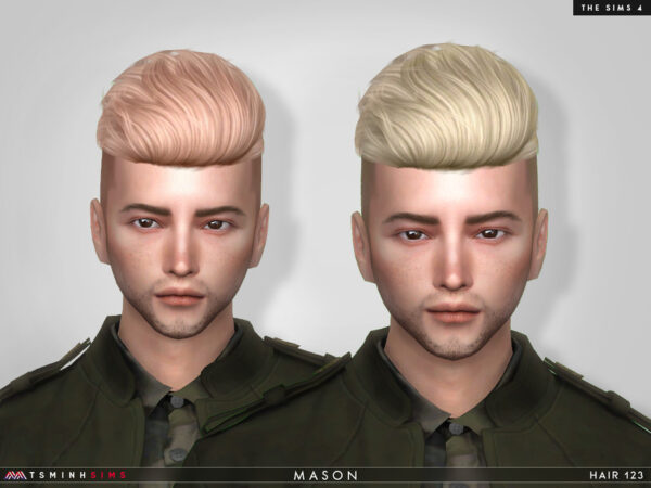 The Sims Resource: Mason Hair 123 by TsminhSims for Sims 4