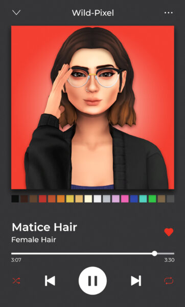 In My Dreams: Matice Hair for Sims 4
