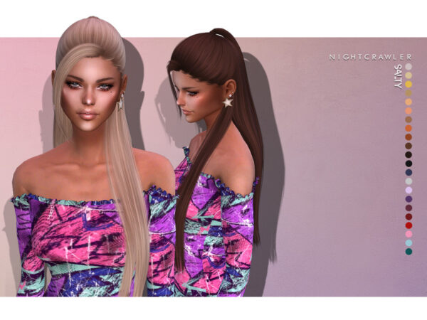 The Sims Resource: Salty Hair by Nightcrawler Sims for Sims 4