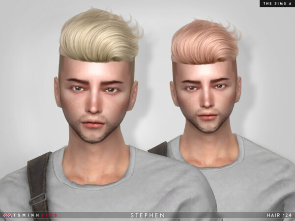 The Sims Resource: Stephen Hair 124 by TsminhSims for Sims 4