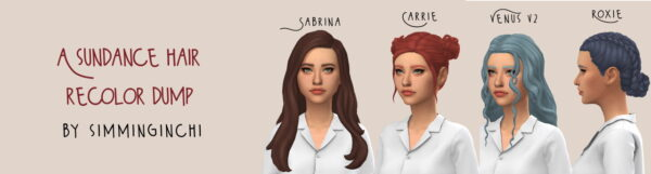 Simminginchi: Sundance Hairs Recolors part 3 for Sims 4