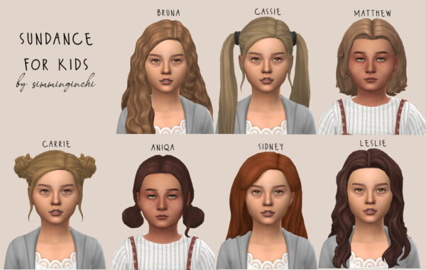 Simminginchi: Sundance recolors for kids for Sims 4