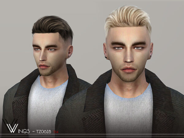 The Sims Resource: WINGS TZ0628 hair for Sims 4