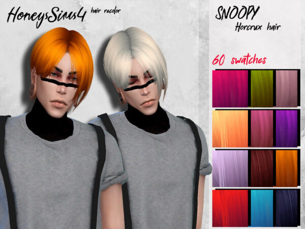 The Sims Resource: Male hair recolor by HoneysSims4 for Sims 4