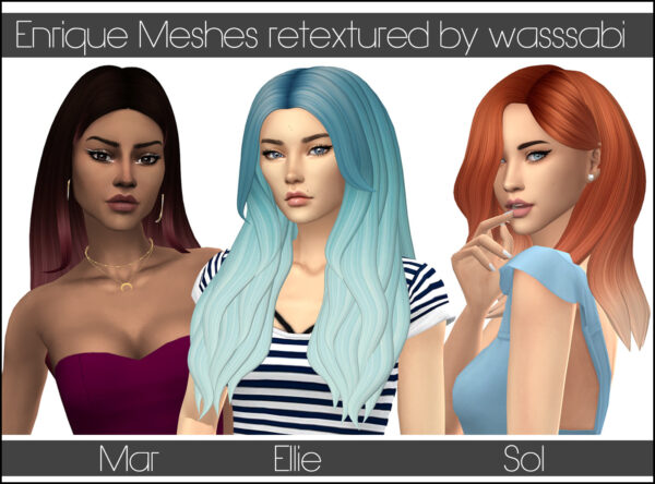 The Sims Resource: Enrique`s Maxis Match hairstyles retextured for Sims 4