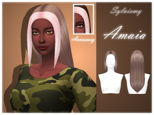 The Sims Resource: Amaia Hairstyle Set for Sims 4