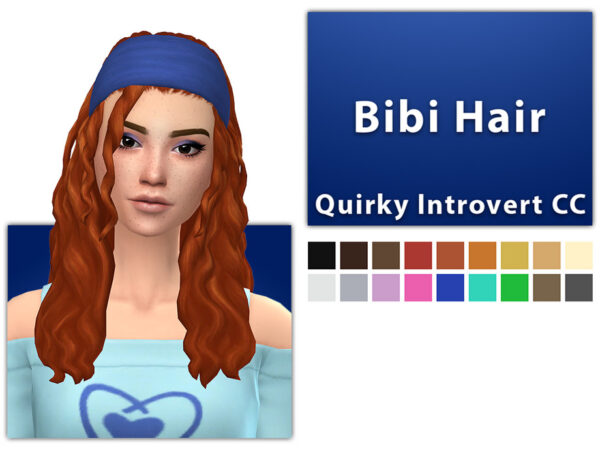 The Sims Resource: Bibi Hair by qicc for Sims 4