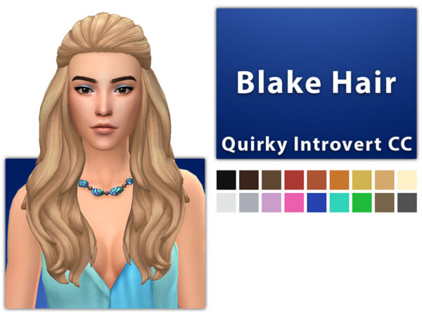 The Sims Resource: Blake Hair by qicc for Sims 4