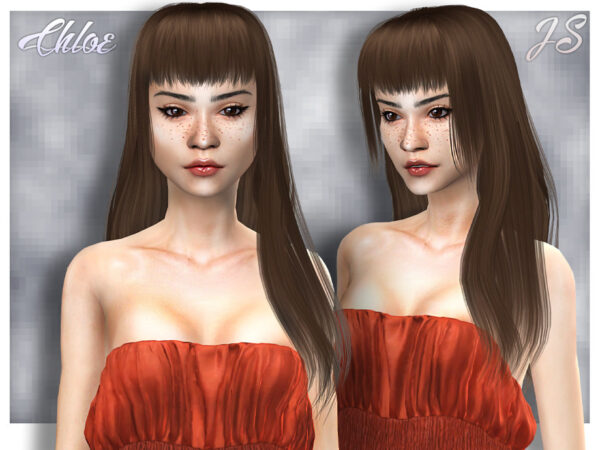 The Sims Resource: Chloe Hair by Chloe JavaSims for Sims 4