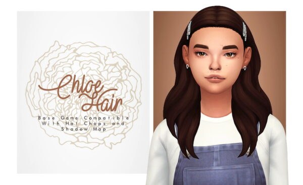 Isjao: Chloe Hair for Sims 4