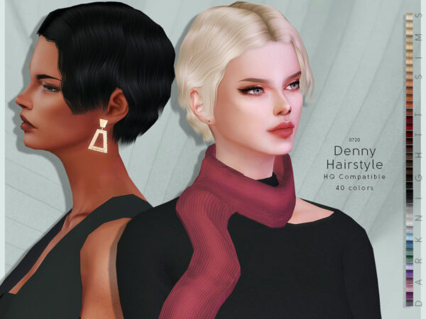 The Sims Resource: Denny Hair by DarkNighTt for Sims 4