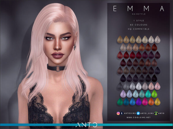 The Sims Resource: Emma Hairstyle by Anto for Sims 4