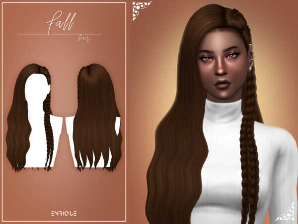 Enrique: Fall Hairstyle for Sims 4