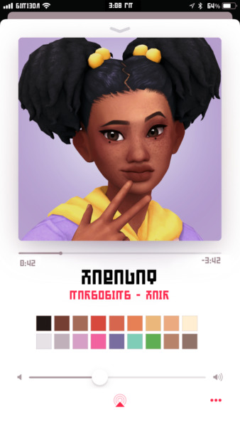 Marso Sims: Habagat hair for Sims 4