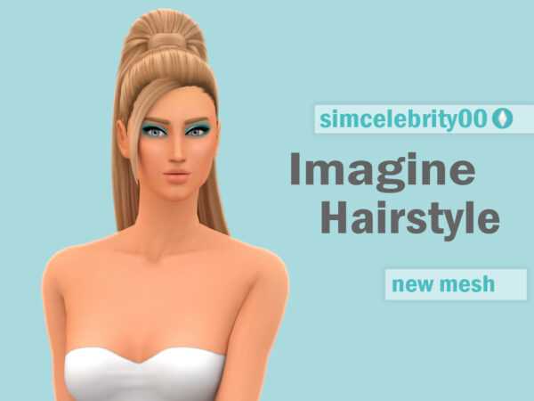 The Sims Resource: Imagine Hair by simcelebrity00 for Sims 4