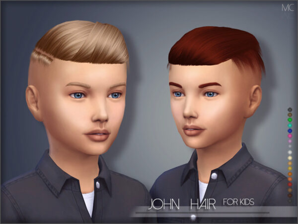 The Sims Resource: John Hair by mathcope for Sims 4
