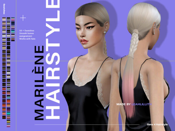 The Sims Resource: Marilene Hairs by LeahLillith for Sims 4