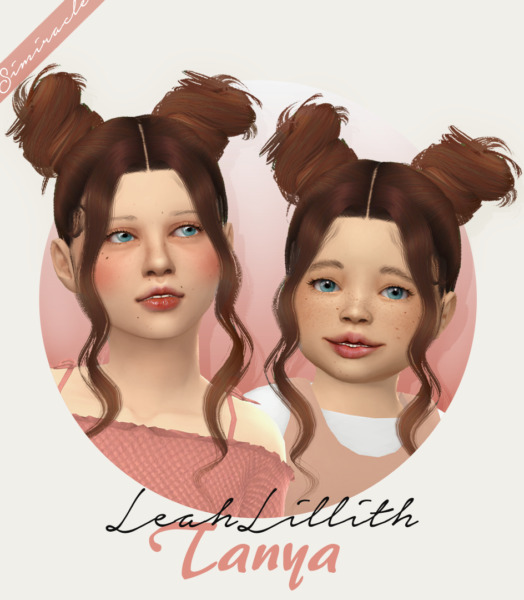 Simiracle: LeahLillith`s Tanya Hair retextured for Sims 4