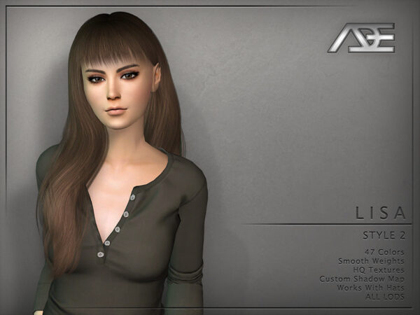 The Sims Resource: Lisa Style 2 by Ade Darma for Sims 4